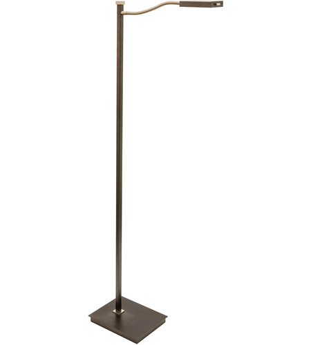 House of Troy LEW800-GT Lewis 52 inch 6.8 watt Granite with Satin Nickel Floor Lamp Portable Light photo