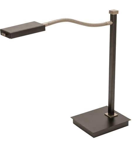 House of Troy LEW850-GT Lewis 18 inch 6.8 watt Granite with Satin Nickel Table Lamp Portable Light photo