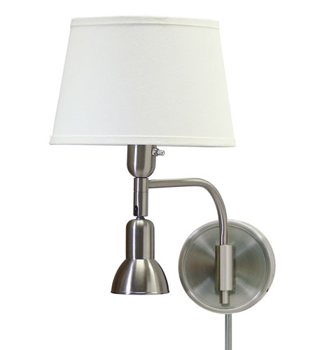 House of Troy Library 2 Light Swing-Arm Wall Lamp in Satin Nickel LL623-SN photo