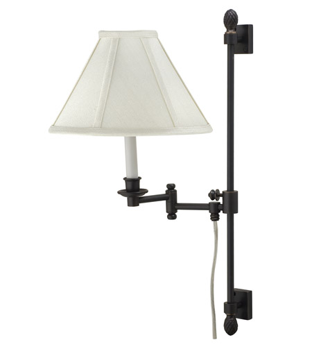 House of Troy Library 1 Light Swing-Arm Wall Lamp in Oil Rubbed Bronze LL662A-OB photo
