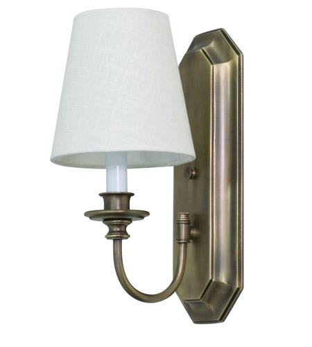 House of Troy Lake Shore 1 Light Wall Lamp in Antique Brass LS208-AB photo