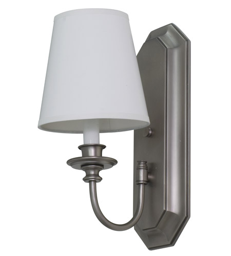 House of Troy Lake Shore 1 Light Wall Lamp in Satin Pewter LS208-SP photo