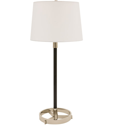 House of Troy M650-BLKPN Morgan 32 inch 150 watt Black with Polished Nickel Table Lamp Portable Light photo