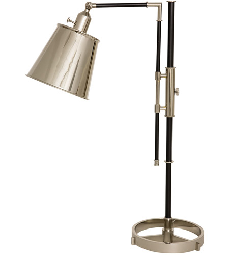 House of Troy M651-BLKPN Morgan 30 inch 75 watt Black with Polished Nickel Adjustable Table Lamp Portable Light photo