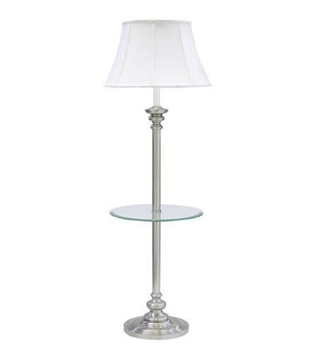 House of Troy Newport 1 Light Floor Lamp in Pewter N602-PTR photo