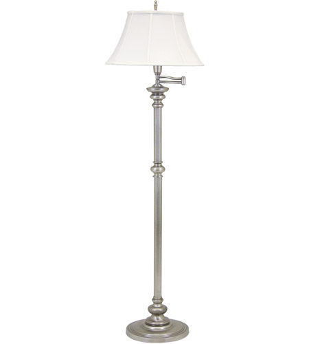 House of Troy N604-PTR Newport 61 inch 150 watt Pewter Floor Lamp Portable Light photo
