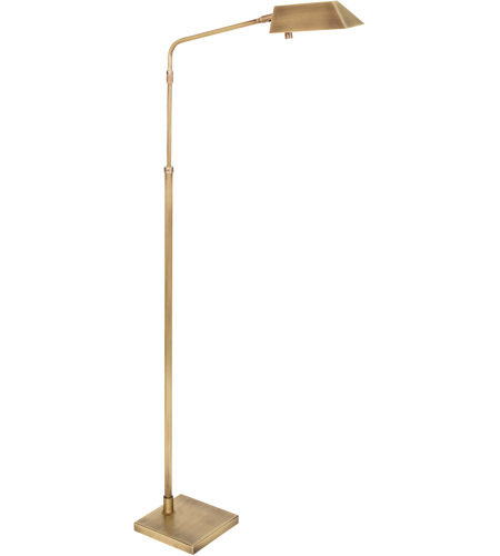 House of Troy NEW200-AB Newbury 42 inch 5 watt Antique Brass Adjustable Floor Lamp Portable Light photo