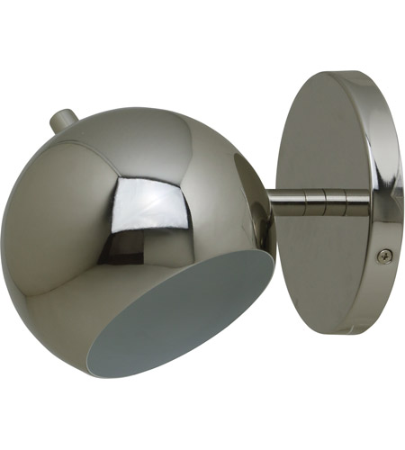 House of Troy ORB125-PN Orbit 1 Light 6 inch Polished Nickel Wall Lamp Wall Light photo