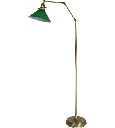 House of Troy OT600-AB-GR Otis 49 inch 60 watt Antique Brass Floor Lamp Portable Light photo