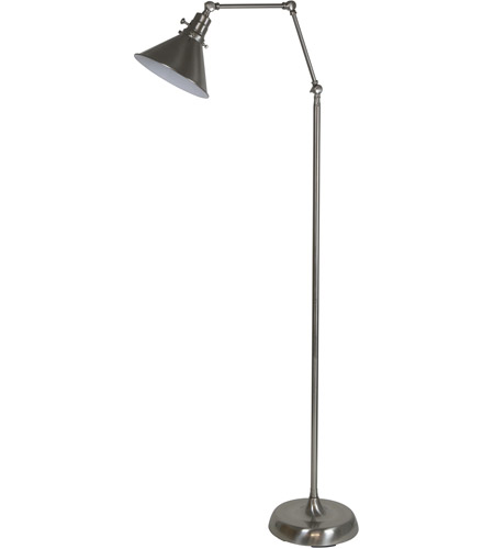 House of Troy OT600-SN-MS Otis 49 inch 60 watt Satin Nickel Floor Lamp Portable Light photo