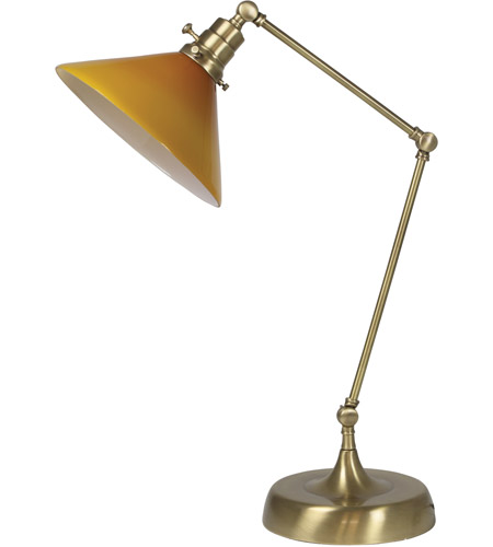 House of Troy OT650-AB-AM Otis 26 inch 60 watt Antique Brass Table Lamp Portable Light photo