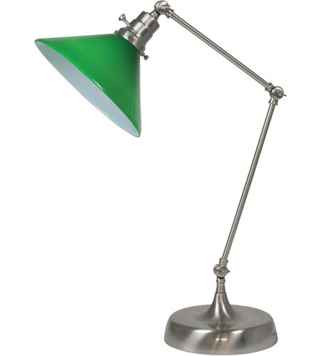 House of Troy OT650-SN-GR Otis 26 inch 60 watt Satin Nickel Table Lamp Portable Light photo