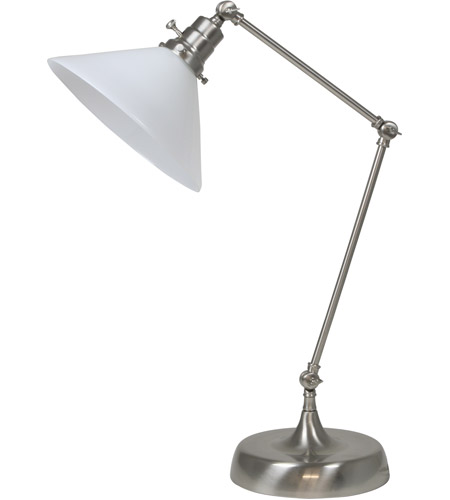 House of Troy OT650-SN-WT Otis 26 inch 60 watt Satin Nickel Table Lamp Portable Light photo