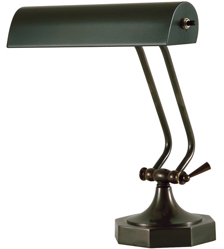House of Troy P10-107-81 Piano and Desk 11 inch 60 watt Mahogany Bronze Piano Lamp Portable Light in 10.5, Octagon photo