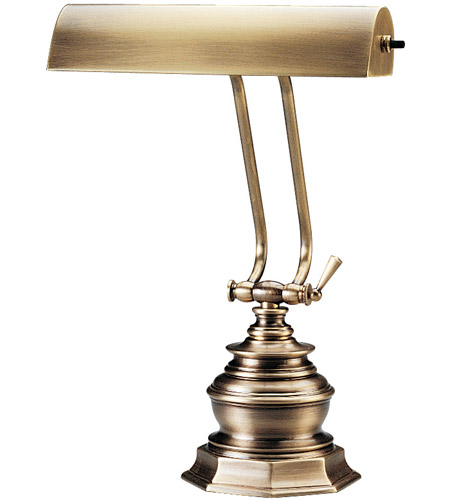 House of Troy P10-111-71 Piano and Desk 14 inch 60 watt Antique Brass Piano Lamp Portable Light in Octagon photo