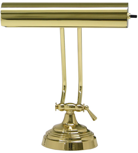 House of Troy P10-131-61 Piano and Desk 11 inch 60 watt Polished Brass Piano Lamp Portable Light in 10.5, Round photo