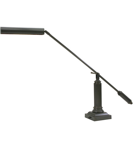 House of Troy P10-191-81 Grand Piano 26 inch 13 watt Mahogany Bronze Piano Lamp Portable Light in Square photo