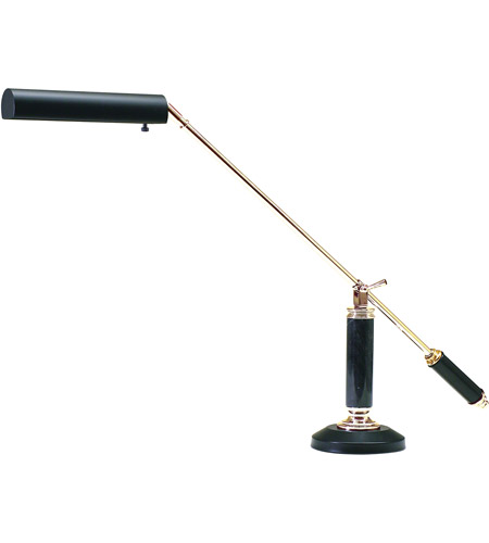 House of Troy P10-192-617 Grand Piano 21 inch 60 watt Black & Brass Piano Lamp Portable Light in Black and Brass, Round photo