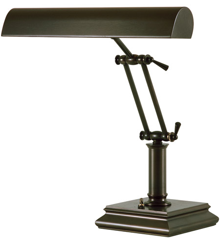 House of Troy P14-201-81 Piano and Desk 14 inch 60 watt Mahogany Bronze Piano Lamp Portable Light in Square photo