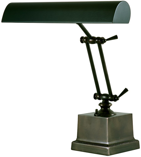 House of Troy P14-202-81 Piano and Desk 13 inch 60 watt Mahogany Bronze Piano Lamp Portable Light in Square photo