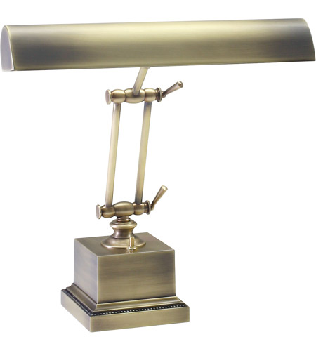 House of Troy P14-202-AB Piano and Desk 13 inch 60 watt Antique Brass Piano Lamp Portable Light in Square photo