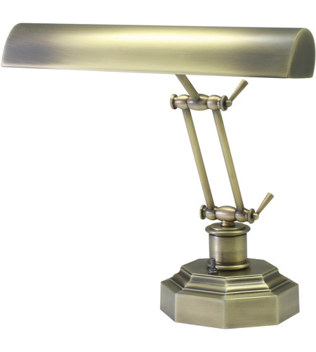 House of Troy P14-203-AB Piano and Desk 13 inch 60 watt Antique Brass Piano Lamp Portable Light in 12.5, Octagon photo