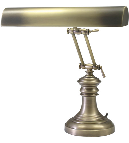 House of Troy P14-204-AB Piano and Desk 16 inch 60 watt Black and Brass Piano Lamp Portable Light in Round photo