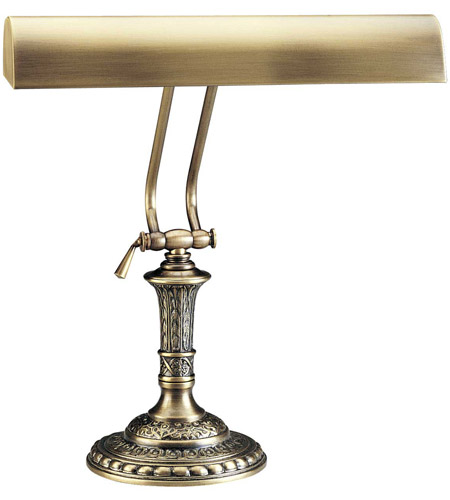 House of Troy P14-242-71 Piano and Desk 16 inch 60 watt Antique Brass Piano Lamp Portable Light in Round photo