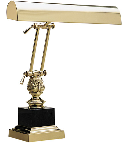 House of Troy P14-246 Piano and Desk 17 inch 60 watt Polished Brass Piano Lamp Portable Light in Square photo
