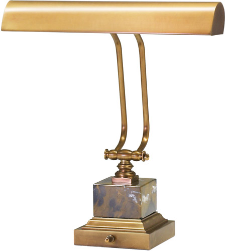 House of Troy P14-280-WB Piano and Desk 12 inch 60 watt Weathered Brass Piano Lamp Portable Light in Square photo