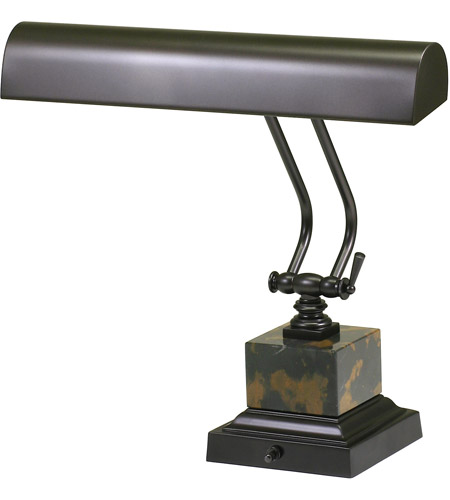 House of Troy P14-280 Piano and Desk 12 inch 60 watt Mahogany Bronze Piano Lamp Portable Light in Square photo