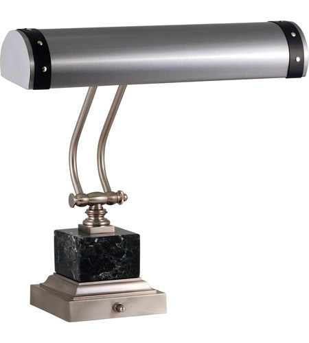 House of Troy P14-290-SNBLK Steamer 13 inch 60 watt Satin Nickel/Black Piano/Desk Lamp Portable Light photo