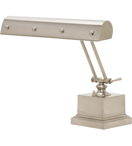House of Troy PB14-202-SN/PN Signature 12 inch 60 watt Satin Nickel w/Polished Nickel Accents Desk Piano Lamp Portable Light in Satin Nickel with Polished Nickel Accents photo