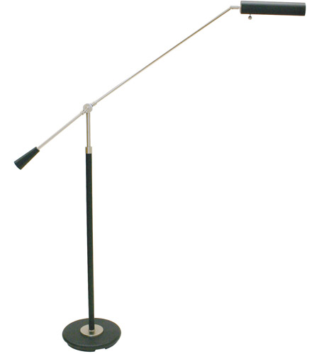 House of Troy Grand Piano 1 Light Piano Lamp in Black & Satin Nickel PFL-527 photo