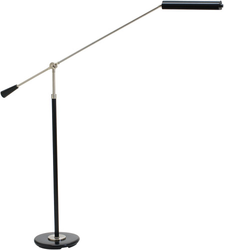 House of Troy PFLED-527 Grand Piano 26 inch 4.2 watt Black & Satin Nickel Piano Lamp Portable Light in Black with Satin Nickel photo