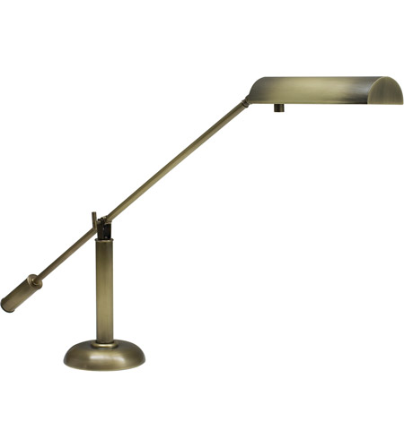 House of Troy PH10-195-AB Grand Piano 21 inch 50 watt Antique Brass Piano Lamp Portable Light photo