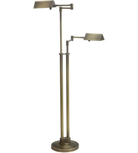 House of Troy PIN400-2-AB Pinnacle 36 inch 50 watt Antique Brass Floor Lamp Portable Light in 2 photo