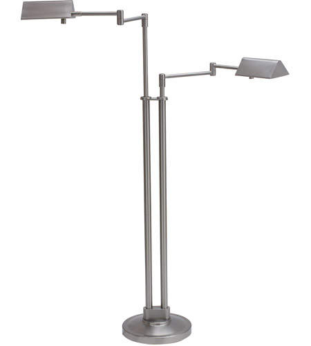 House of Troy PIN400-2-SN Pinnacle 36 inch 50 watt Satin Nickel Floor Lamp Portable Light in 2 photo