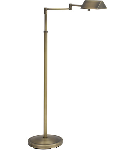 House of Troy PIN400-AB Pinnacle 36 inch 50 watt Antique Brass Floor Lamp Portable Light in 1 photo