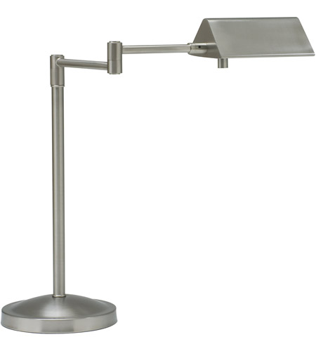 House of Troy Pinnacle 1 Light Table Lamp in Satin Nickel PIN450-SN photo