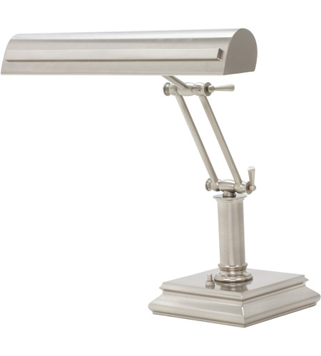 House of Troy PS14-201-SN/PN Signature 12 inch 60 watt Satin Nickel w/Polished Nickel Accents Desk Piano Lamp Portable Light in Satin Nickel with Polished Nickel Accents photo