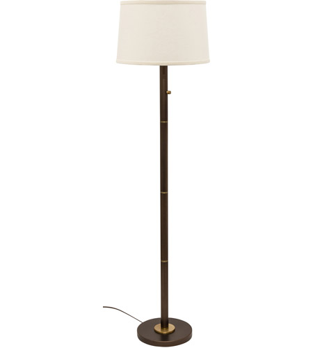 House of Troy RU703-CHB Rupert 62 inch 100 watt Chestnut Bronze with Weathered Brass Floor Lamp Portable Light photo