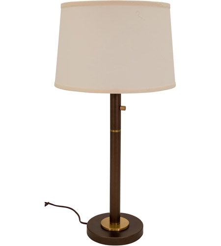 House of Troy RU750-CHB Rupert 31 inch 75 watt Chestnut Bronze with Weathered Brass Table Lamp Portable Light photo