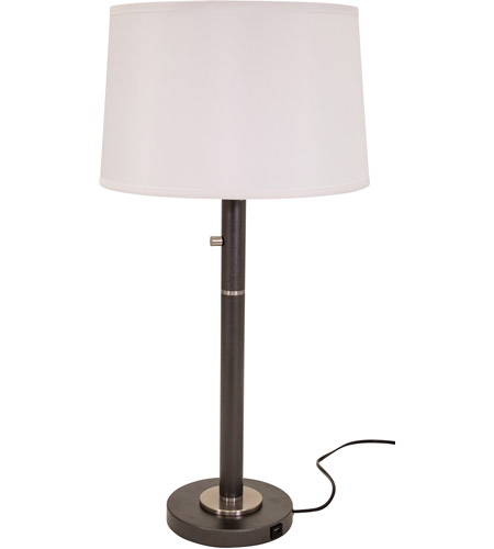 House of Troy RU750-GT Rupert 31 inch 75 watt Black with Satin Nickel Table Lamp Portable Light photo