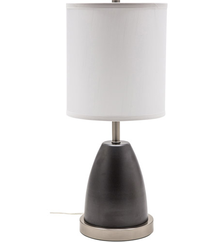 House of Troy RU751-GT Rupert 21 inch 100 watt Granite with Satin Nickel Table Lamp Portable Light, with USB Port photo