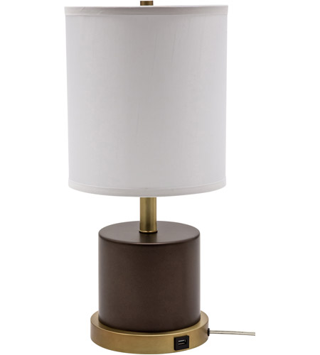 House of Troy RU752-CHB Rupert 20 inch 100 watt Chestnut Bronze with Weathered Brass Table Lamp Portable Light photo