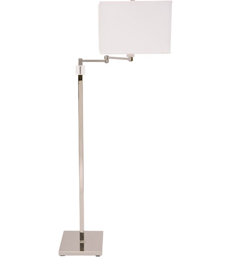 House of Troy S901-PN Somerset 57 inch 150 watt Polished Nickel Swing Arm Floor Lamp Portable Light photo