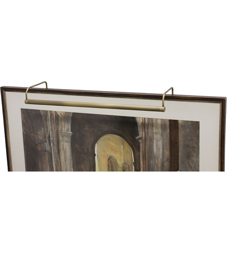 House of Troy SL21-71 Slim-line 60 watt 21 inch Antique Brass Picture Light Wall Light photo