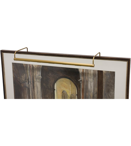 House of Troy Slim-line 8 Light Picture Light in Weathered Brass SL40-76 photo