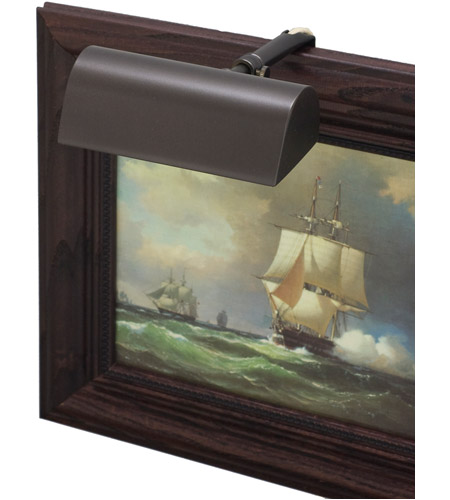 House of Troy T5-81 Classic Traditional 15 watt 5 inch Mahogany Bronze Picture Light Wall Light photo